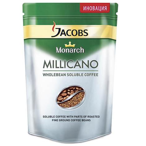 Чай и кофе : Кофе JACOBS Monarch Millicano молотый в растворимом zip-lock 75г